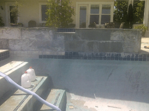 Pool tile repair project in Carmel Valley, San Diego, 92130