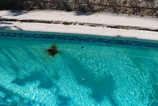 Pool inspection in Serra Mesa, Plaster damage