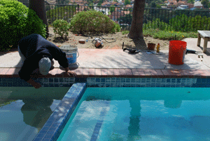 Pool tile repair in Penasquitos-c
