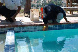 Pool tile repair in Penasquitos-b