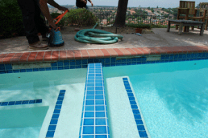 Pool tile repair in Penasquitos, San Diego, 92129