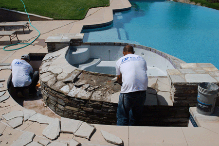 San Diego pool coping repairs tear down